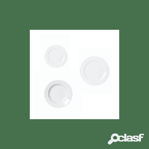 Servizio piatti in porcellana moon alumina, 18 pezzi
