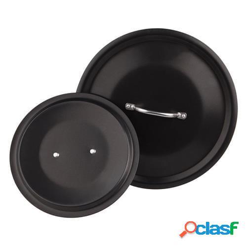 Coperchio al-black con maniglia inox, diam. 40cm (outlet)