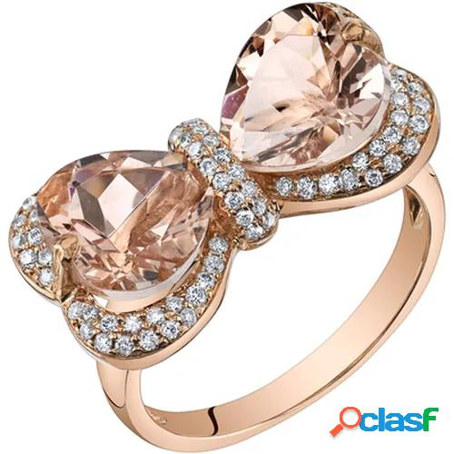 14k rose gold natural bow morganite water drop antique engagement ring birthstone rings for women promise rings for women