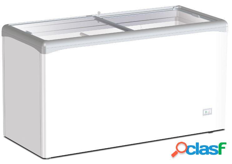 Congelatore a pozzetto statico per gelato 358 lt porta vetro -25°c/-18°c