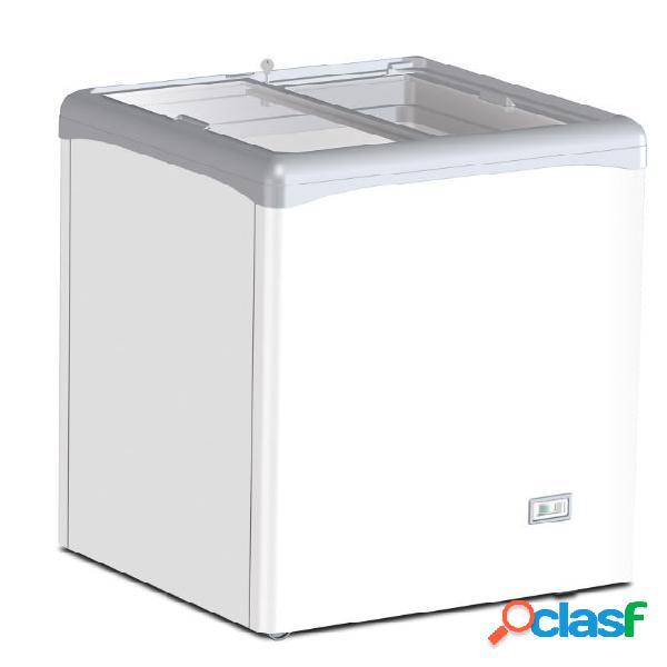 Congelatore a pozzetto statico per gelato 112 lt porta vetro -25°c/-18°c