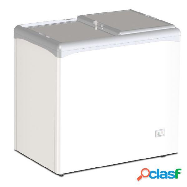 Congelatore a pozzetto statico per gelato coperchi scorrevoli ciechi 208 lt -25°c/-18°c