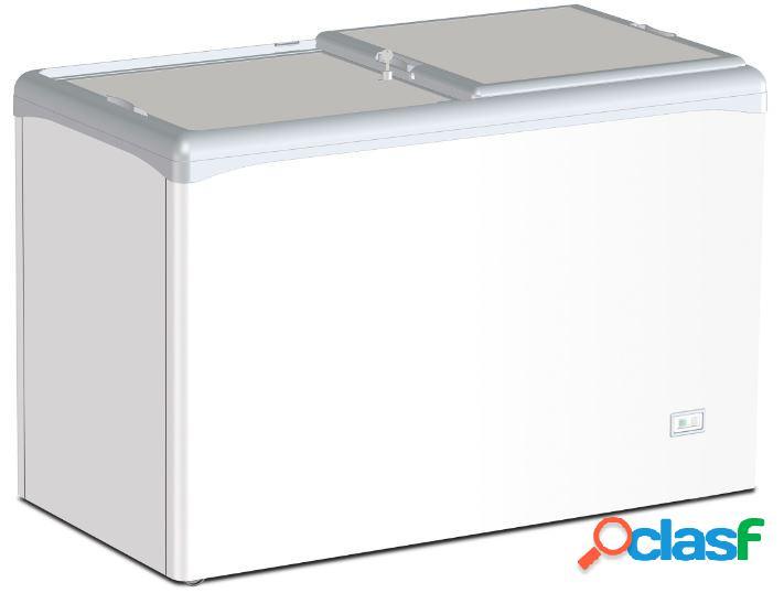 Congelatore a pozzetto statico per gelato coperchi scorrevoli ciechi 284 lt -25°c/-18°c