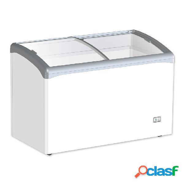 Congelatore a pozzetto statico per gelato 245 lt porta vetro curvo -25°c/-18°c