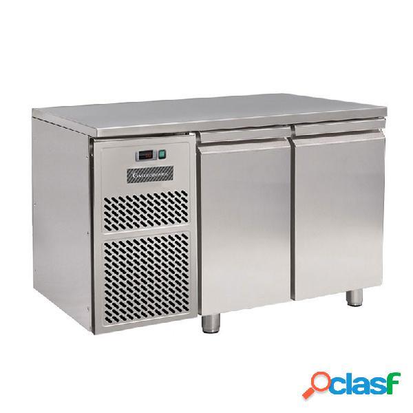 Tavolo refrigerato motore a sinistra 2 porte prof. 600 mm 0°c/+10°c classe energetica d