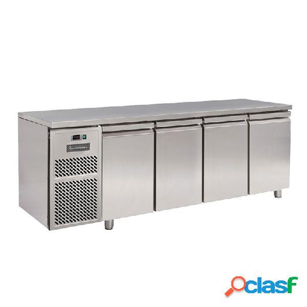 Tavolo refrigerato motore a sinistra 4 porte prof. 600 mm 0°c/+10°c classe energetica d