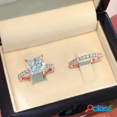 18k rose gold natural white sapphire and diamond ring art deco antique engagement ring birthstone rings for women promise rings for women white gold size 5 6 7 8 9 10 11
