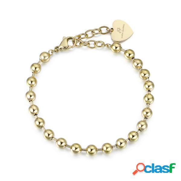 Bracciale in acciaio ip gold per charms