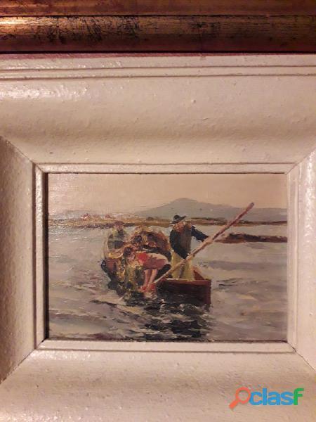 Dipinto d'epoca firmato L. BREUIL olio su tela