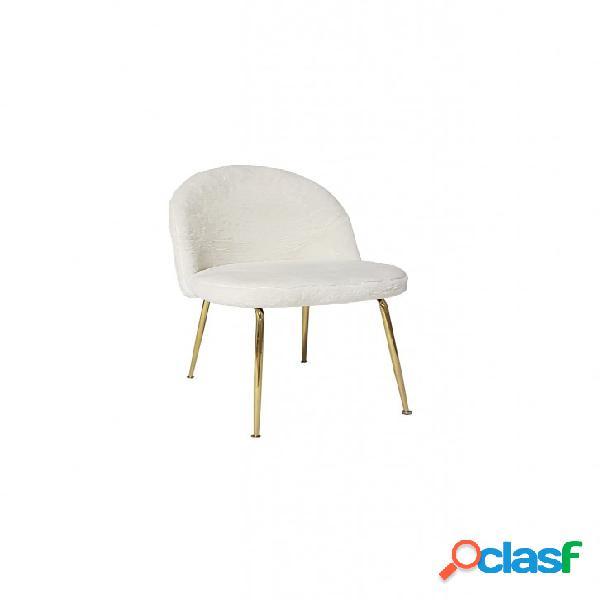Set sedie montmartre tessuto bianco con gambe in ottone