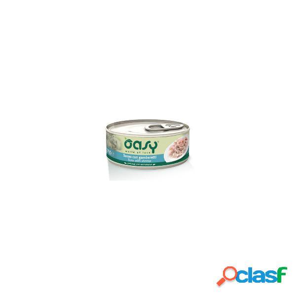 Cibo umido per gatti oasy tonno con gamberetti 150 gr