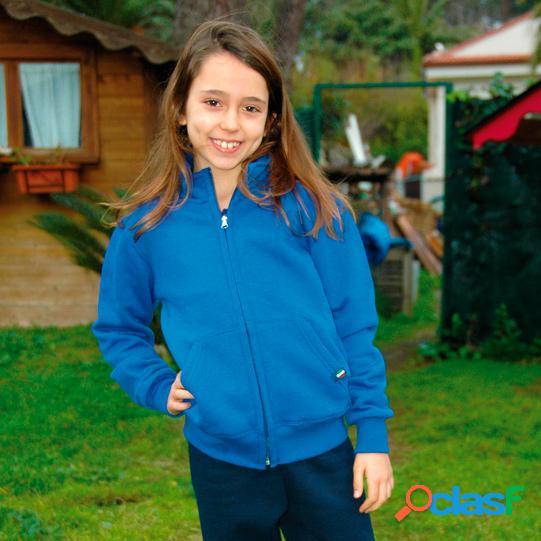 Stile italia felpa jacket bambino zip lunga it040